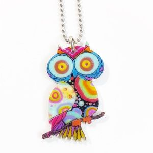 Owl Necklace NWT Stainless Steel Chain
